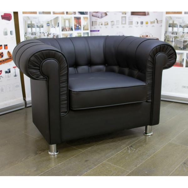Диван офисный GRUPPO 396 Хейфорд Кресло, искусственная кожа, цвет черный