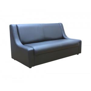 Диван офисный GRUPPO 396 Клерк 9 двойной, искусственная кожа, цвет черный Ecotex 3001