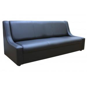 Диван офисный GRUPPO 396 Клерк 9 тройной, искусственная кожа, цвет черный Ecotex 3001