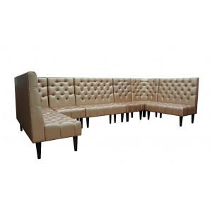 Модульная группа Олфорд, диван п-образный, (стеганое посадочное место)