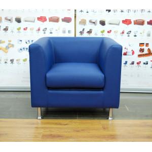 Кресло офисное GRUPPO 396 Опус, иск.кожа цвет синий
