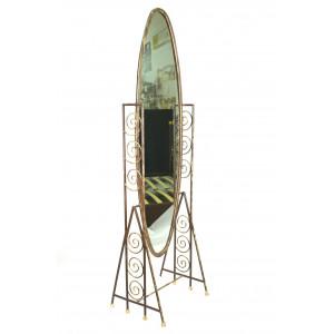 Зеркало GRUPPO 396 Ариадна кованое, шоколад + патина солнечное золото