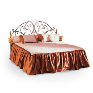 """Кровать """"Кёртис"""" кованая (с мягкими царгами)"""