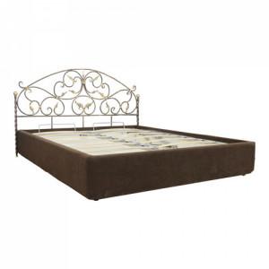 Кровать Кертис кованая с подъемным механизмом цвет шоколад
