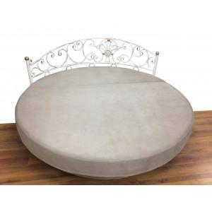 Кровать круглая GRUPPO 396 Мадена с кованым изголовьем + тумбочка кованая, Комплект