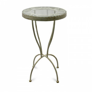 Кофейный столик Маркиз кованый цвет ковки №7, D=450 x 750