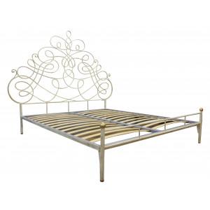 """Кровать """"Пуатье"""" кованая (с металлическими царгами, без подъёмного механизма)"""
