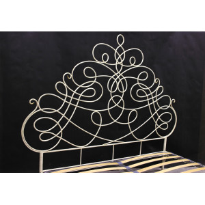 Кровать Пуатье кованая цвет слоновая кость