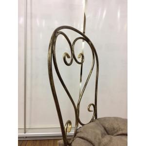 Комплект кованых стульев Завитки с набивной подушкой цвет шоколад (4шт)