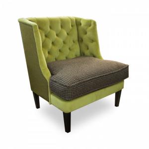 Кресло Амати  в зеленой рогожке.