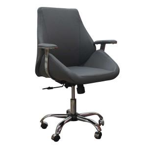 """Кресло """"Авгур М"""" с подлокотниками на пятилучье хромированном"""