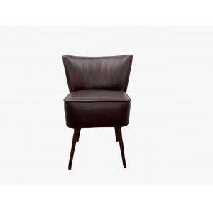 Кресло Бьерн натуральная кожа темно бордовый