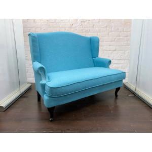 Диван GRUPPO 396 Денди двойной, в рогожке, цвет голубой
