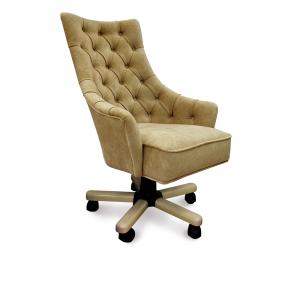 Кресло Дюранго Классика на опоре пятилучье с деревянными накладками