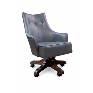 Кресло Дюранго Модерн на опоре пятилучье с деревянными накладками Люкс