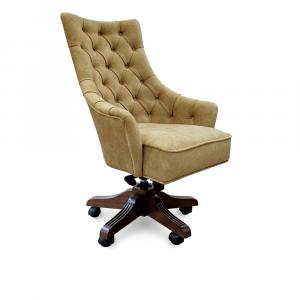 Кресло Дюранго Классика на опоре пятилучье с деревянными накладками Люкс