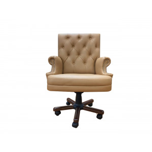 Кресло Каст на пятилучье с деревянными накладками