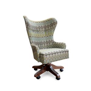 Кресло Корфур Модерн на опоре пятилучье с деревянными накладками Люкс