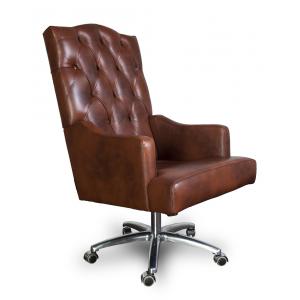 Кресло Викториан на опоре пятилучье алюминиевое или хром