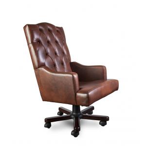 Кресло Викториан на опоре пятилучье с деревянными накладками