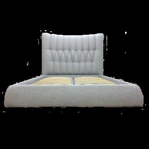 Кровать GRUPPO 396 Галея двуспальная, спальное место (ШхД): 180х200 см, с подъемным механизмом, обивка: рогожкаTaft, цвет серый