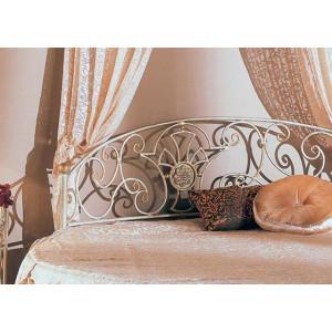 Кровать Мадена круглая с кованым изголовьем
