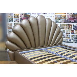 Кровать GRUPPO 396 Мэрилин двуспальная, спальное место (ШхД): 160х200 см, с подъемным механизмом, обивка: экокожа, цвет темно-бежевый перламутр