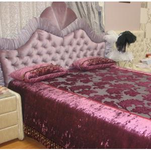 Кровать GRUPPO 396 Версавия двуспальная, спальное место (ШхД): 160х200 см, с подъемным механизмом, обивка: ткань, цвет: лаванда