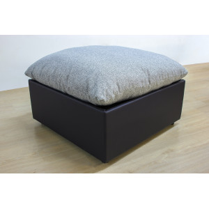 Пуфик GRUPPO 396 Кубэ, подушка в рогожке taft, цвет серый