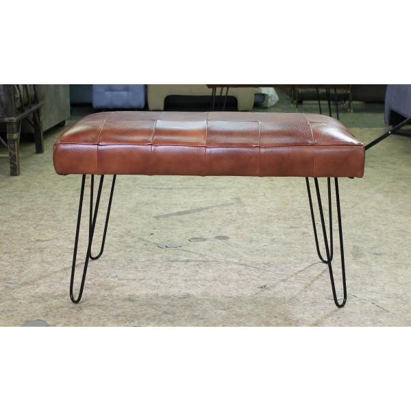 Банкетка GRUPPO 396 Лейд 800*400, натуральная кожа, цвет коричневый