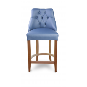 Барный стул Дени Классика на опоре полубарная деревянная (арт.222) (высота посадочного места 650 мм)
