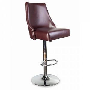 Барный стул Дени не стеганный на хромированной базе