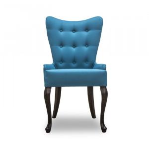 Стул GRUPPO 396 Джой Модерн, ткань, цвет голубой, опора деревянная (арт.К410)