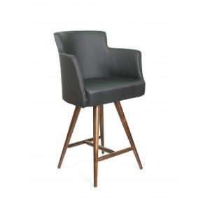 Барный стул Крипс на опоре полубарная деревянная (арт.444)