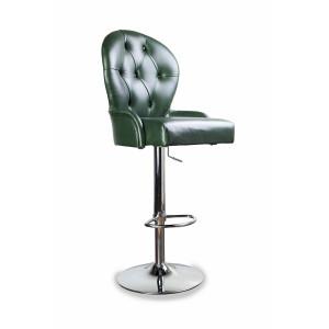 Барный стул Лира классика на барной хромированной базе