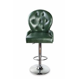 Барный стул Лира Классика на опоре барная хромированная рингбаза