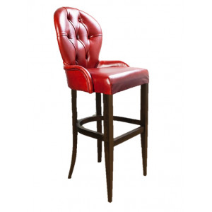 Барный стул Лира Классика на барной деревянной базе (арт.222) (высота посадочного места 850 мм)