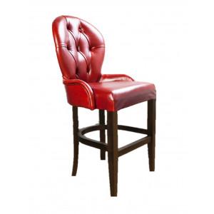 Барный стул Лира Классика на полубарной деревянной базе (арт.222) (высота посадочного места 650 мм)