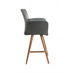 Барный стул Тертул на опоре полубарная деревянная (арт.444)